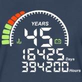 compteur-anniversaire-years-ans-45-tee-shirts-t-shirt-premium-femme